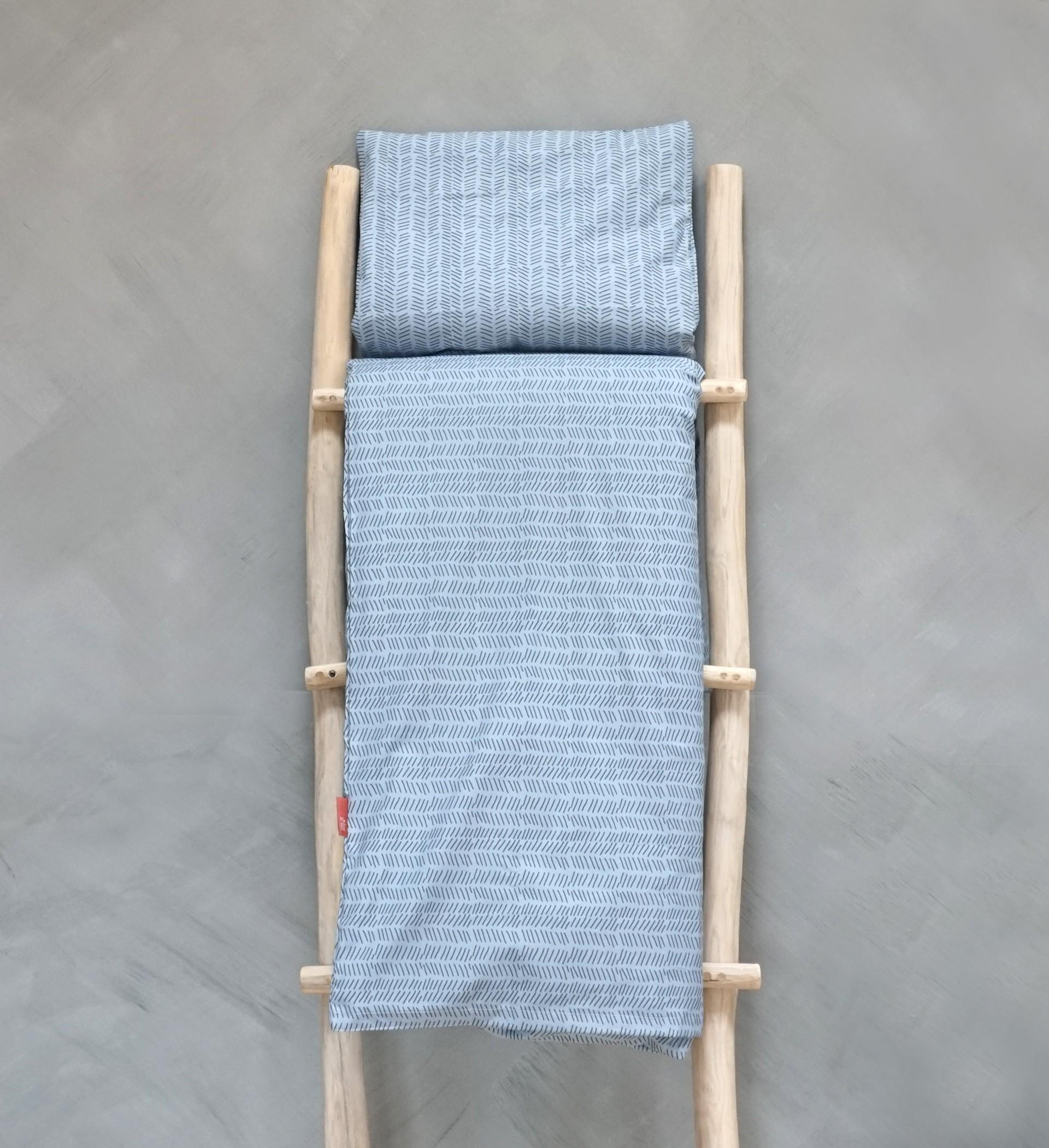 Baobaby presvlaka za poplun i jastučnica - Blue Lines