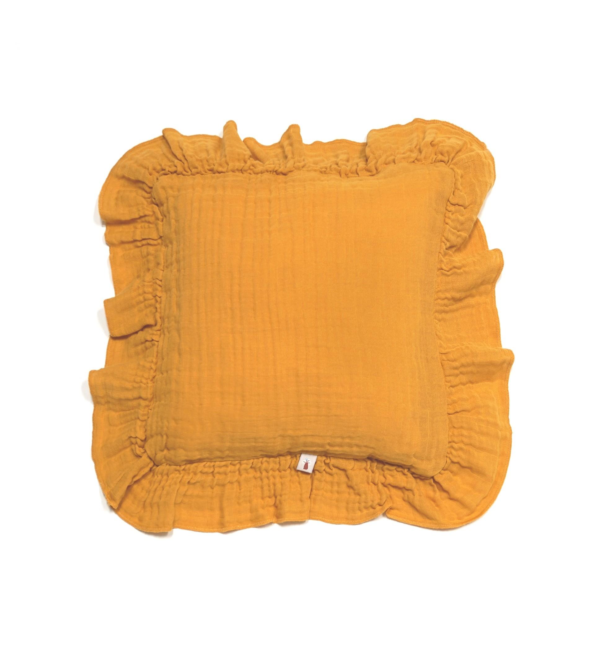 Baobaby jastučić s volanom, muslin - Sunny Gold