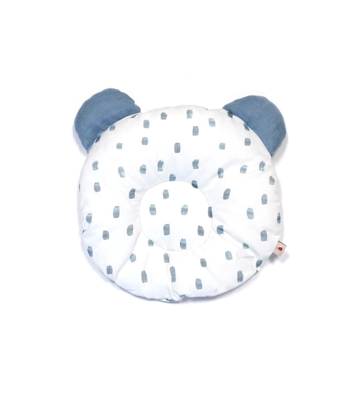 Baobaby okrugli jastučić s ušima, organski pamuk, Blue Ice drops