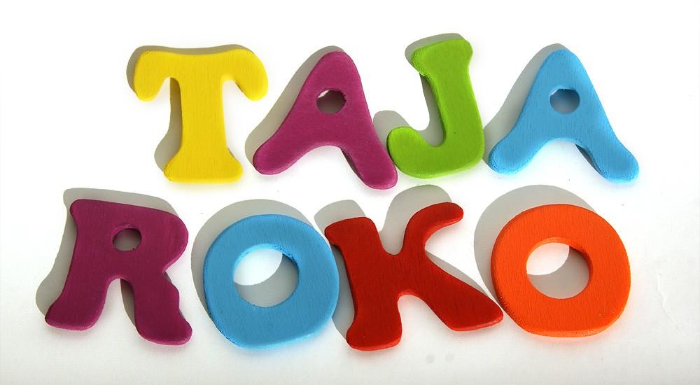 Eko igračke - Šarena slova