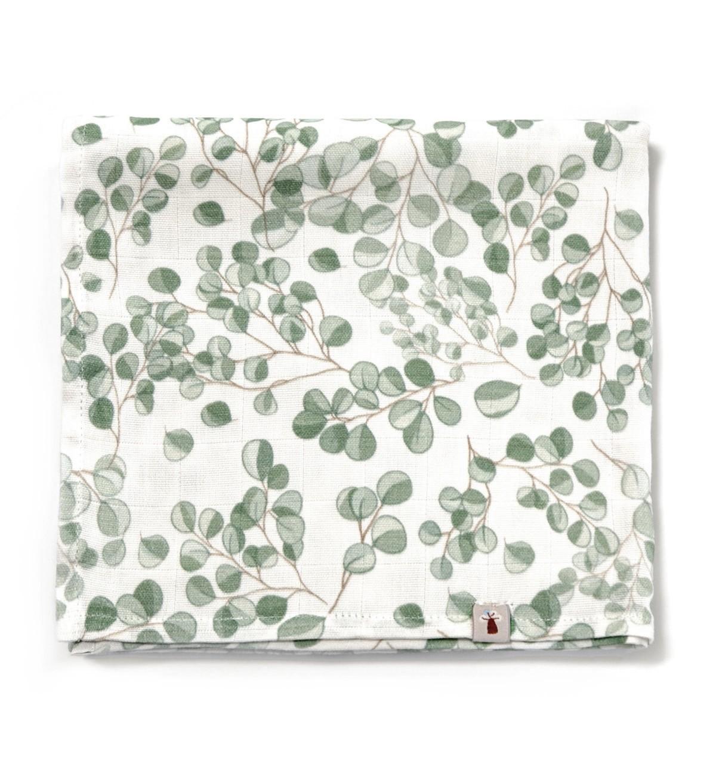 Baobaby - muslin swaddle dekica - Evergreen