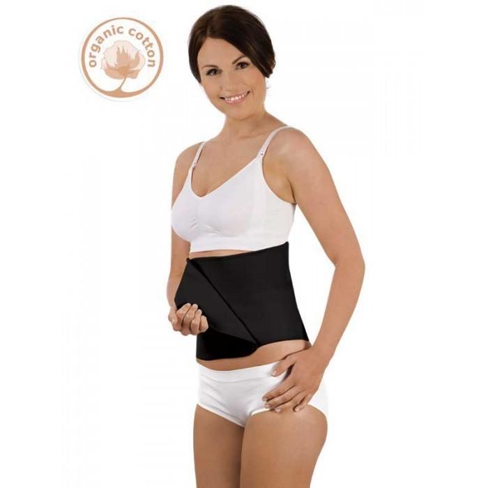 Carriwell - Steznik za trbuh od organskog pamuka na čičak - crni