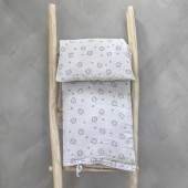 Baobaby muslin posteljina za krevetić, Gray Spikey
